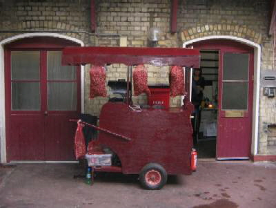 Hot roast chestnut cart hire Leicestershire, a real treat for your guests.